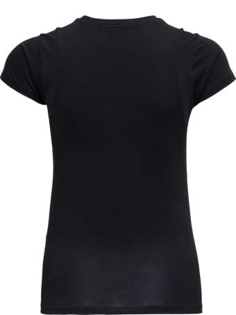 Frame Le Mid Muscle Black Cotton T-shirt