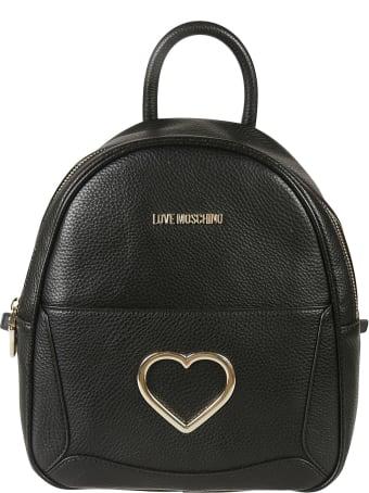 Love Moschino Heart Logo Backpack