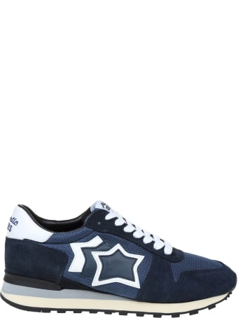 Atlantic Stars Argo Sneakers In Suede And Canvas Color Blue