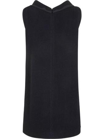 Gucci Rear Zip Embellished Sleeveless Dress