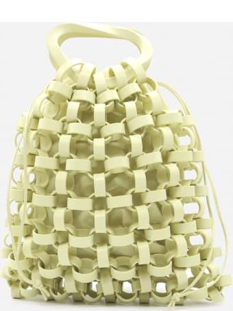 Bottega Veneta Leather Bag With All-over Woven Pattern