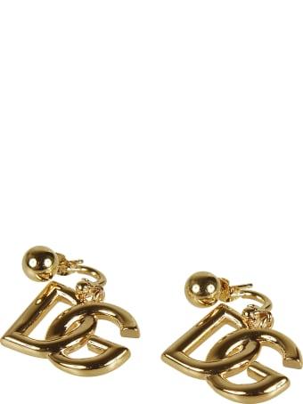 Dolce & Gabbana Logo Plaque Earrings