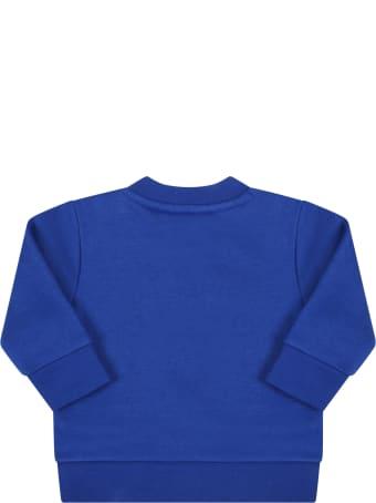 Hugo Boss Royal Blue Sweatshirt For Baby Boy With Logo