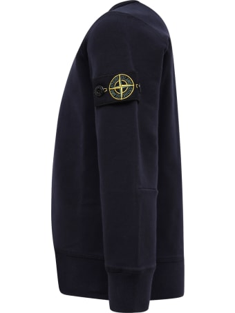Stone Island Junior Blue Sweatshirt For Boy With Iconic Compass