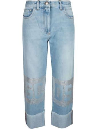 GCDS Straight Leg Jeans