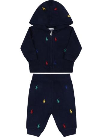 Ralph Lauren Blue Tracksuit For Baby Kids