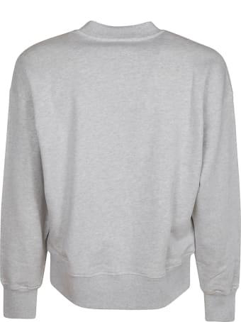 MSGM Embroidered Logo Ribbed Sweatshirt