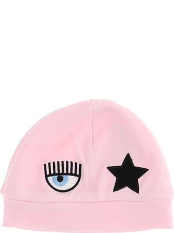 Chiara Ferragni Eyestar Hat In Pink Cotton