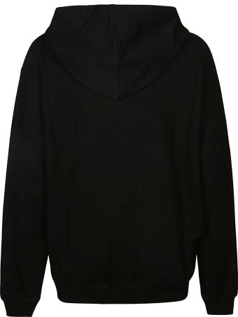 Off-White Black Cotton Logo Print Hoodie