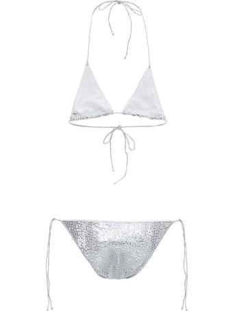 Oseree Silver Sequins Bikini