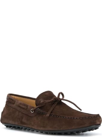 Tod's Brown Suede Gommino
