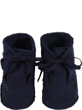 Le Petit Coco Blue Shoes For Baby Kids
