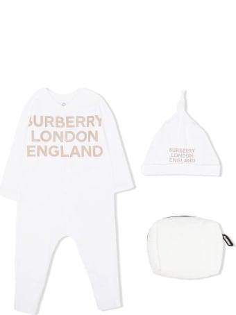 Burberry Cleo White Cotton Set With Logo