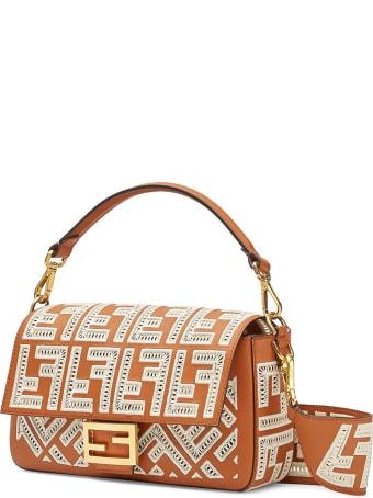Fendi Fendi Baguette Ff Embroidery Bag