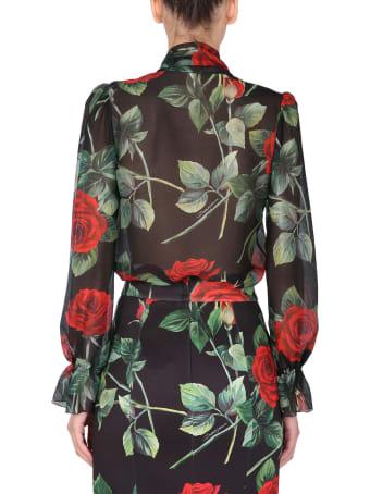 Dolce & Gabbana Shirt With Rose Print