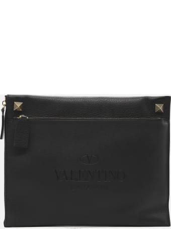 Valentino Garavani Identity Pouch In Leather
