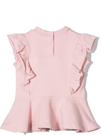 Monnalisa Pink Cotton Stretch T-shirt