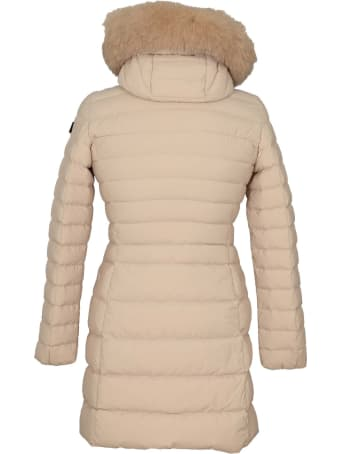 Peuterey Seriola Slim Down Jacket In Nylon With Fur