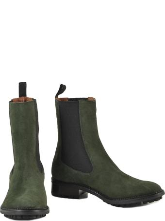 L'Autre Chose Women's Green Booties