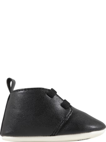 Karl Lagerfeld Kids Black Shoes For Babykids With Karl Lagerfeld