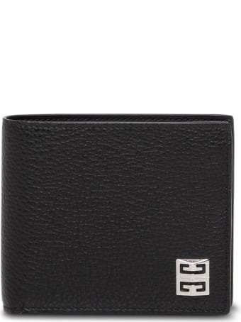 Givenchy Black Hammered Leather Wallet