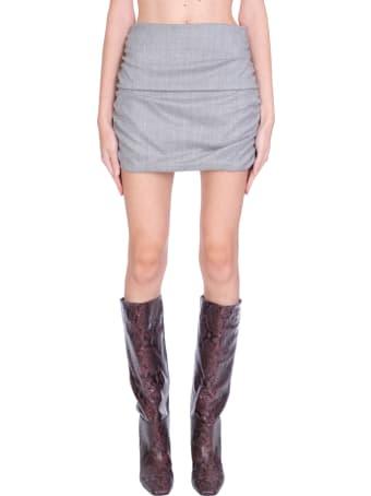 WANDERING Skirt In Grey Wool
