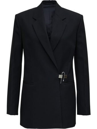 Givenchy Black Wool Blazer With Padlock Detail