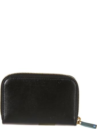 Saint Laurent Logo Plaque Zip-around Wallet