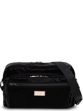 Dolce & Gabbana Messenger Sicily Nylon Crossbody Bag With Logo