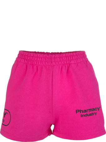 Pharmacy Industry Woman Fuchsia Shorts With Logos