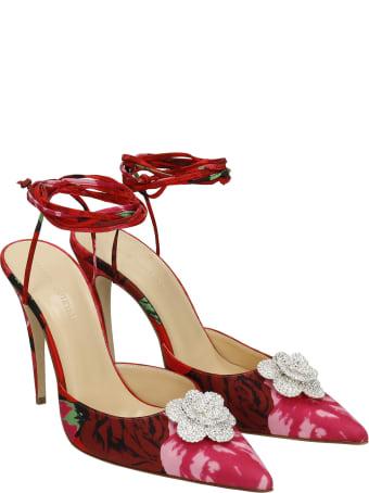 Magda Butrym Sandals In Red Satin