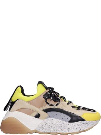 Stella McCartney Eclypse Sneakers In Yellow Synthetic Fibers
