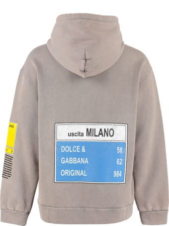 Dolce & Gabbana Printed Cotton Hoodie