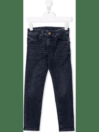 Diesel Skinny Boy Jeans In Dark Blue Denim With Logo