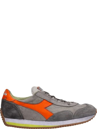 Diadora Equipe H Sneakers In Grey Suede And Fabric