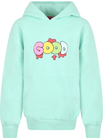 IRENEISGOOD Teal Green Sweatshirt For Girl