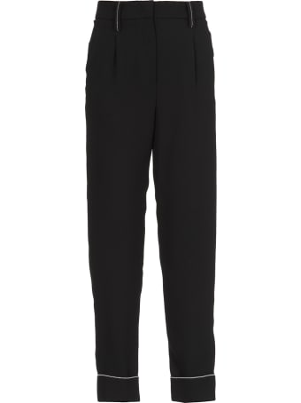 Peserico Tailored Trousers With Metallic Highlight Details