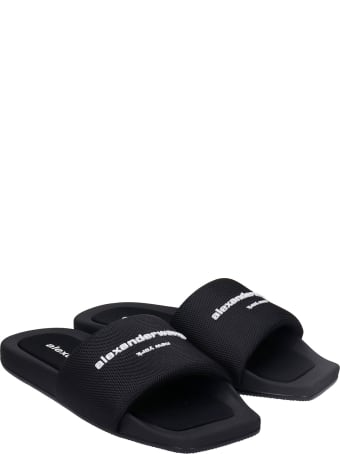 Alexander Wang Aw Pool Flats In Black Nylon