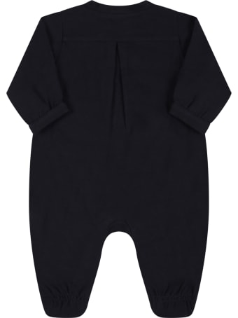 Armani Collezioni Blue Babygrow For Baby Boy With Bears