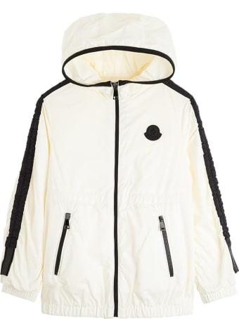 Moncler Denata Jacket In Black And White Nylon