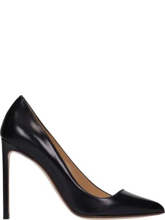 Francesco Russo Pumps In Black Leather