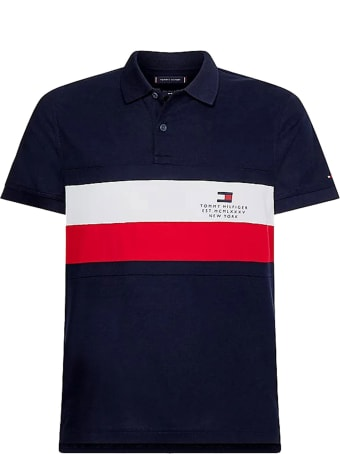 Tommy Hilfiger Polo Shirt In Blue Cotton