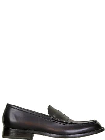 Barrett College Loafer In Dark Brown Leather
