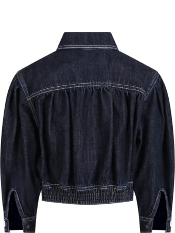 Philosophy di Lorenzo Serafini Black Jacket For Girl With Logo