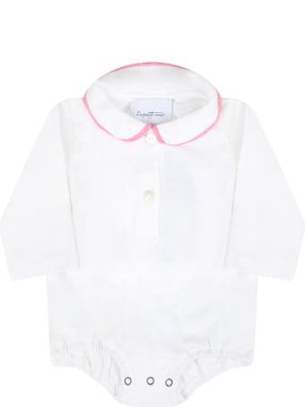 Le Petit Coco White Bodysuit For Babykids