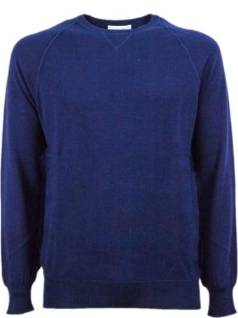 Cruciani Blue Cotton Sweater