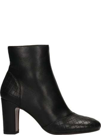 Chie Mihara Waida High Heels Ankle Boots In Black Leather