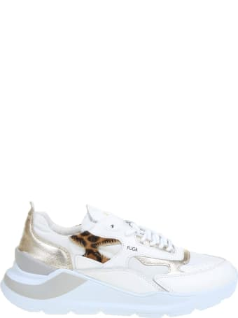 D.A.T.E. White Leather Sneakers