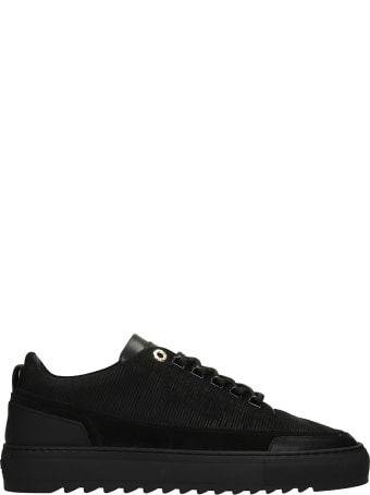 Mason Garments Firenze Sneakers In Black Suede And Leather