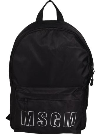 MSGM Logo Print Backpack